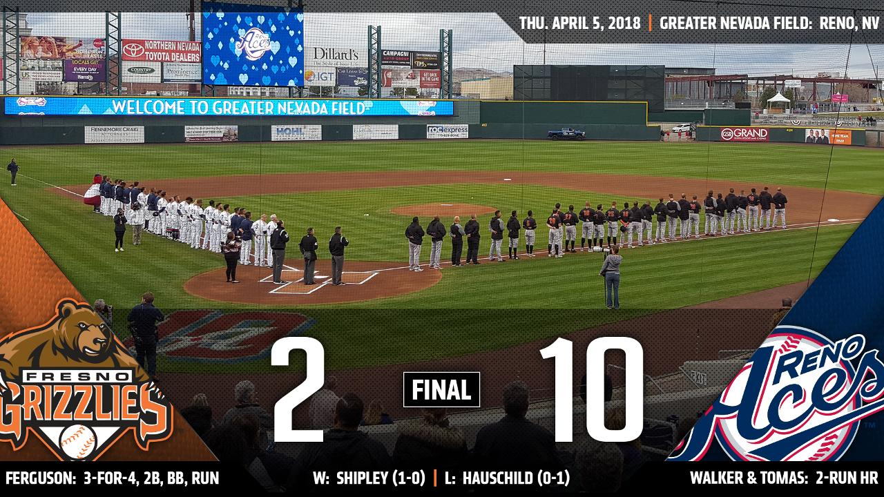 Grizzlies drop 10-2 Opening Day decision at Reno | Fresno Grizzlies News