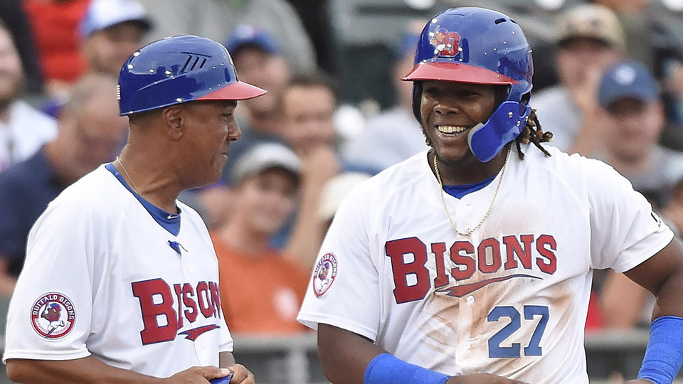 f5cf0dcbb Vladimir Guerrero Jr. had a lot to smile about during the 2018 Minor League  Baseball season. (Nathan Denette The Canadian Press)