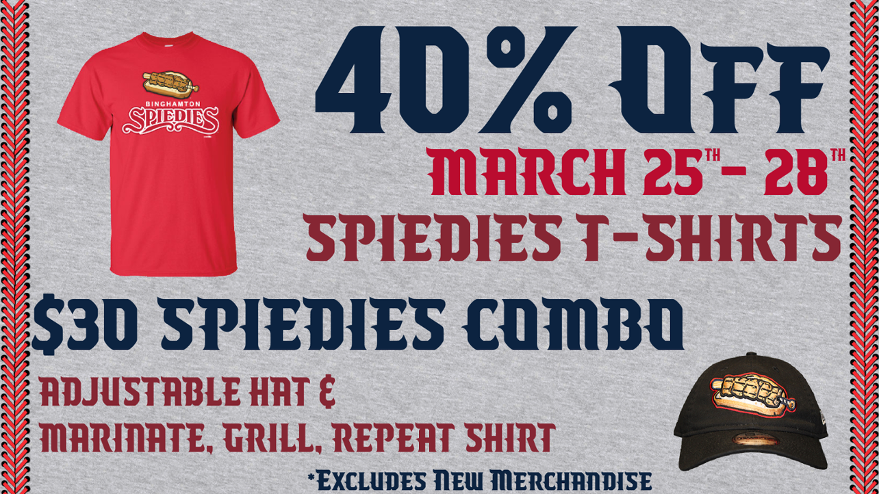 40% Off Spiedies T-Shirts Now to March 28th!