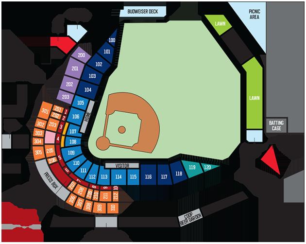 seating map & pricing   oklahoma city dodgers ballpark