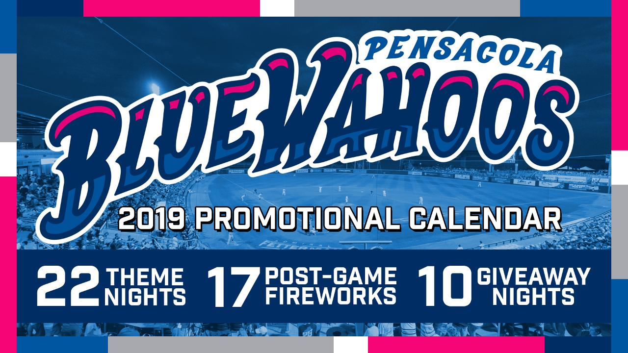 image about Minnesota Twins Printable Schedule known as Blue Wahoos Announce 2019 Advertising Calendar Pensacola