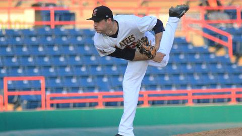 Brevard County starting pitcher Brooks Hall allowed three runs in five innings of work as the Manatees fell 5-3 to the Charlotte Stone Crabs on Tuesday night at Space Coast Stadium in Viera.