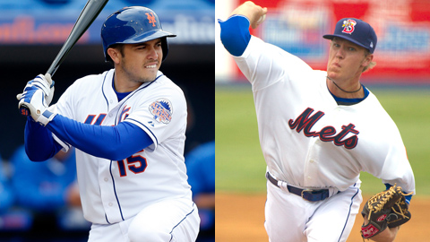 Travis d'Arnaud and Noah Syndergaard rank only behind Zack Wheeler in MLB.com's Prospect Watch.