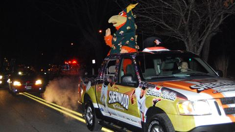 The Shorebirds want to see you at one of the seven Christmas parades!