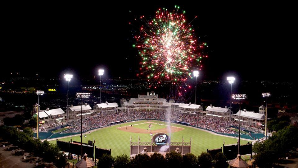 Frisco RoughRiders Post Game Fireworks atDr Pepper Ballpark에 대한 이미지 검색결과