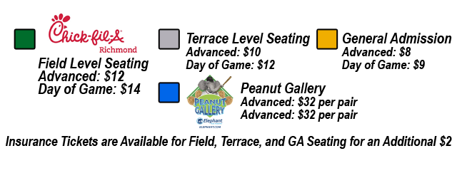 Seating Chart Richmond Flying Squirrels The Diamond