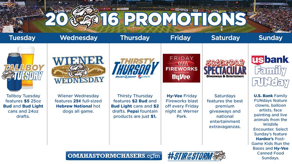 Weekly Promotions Calendar Announced | Winston-Salem Dash News