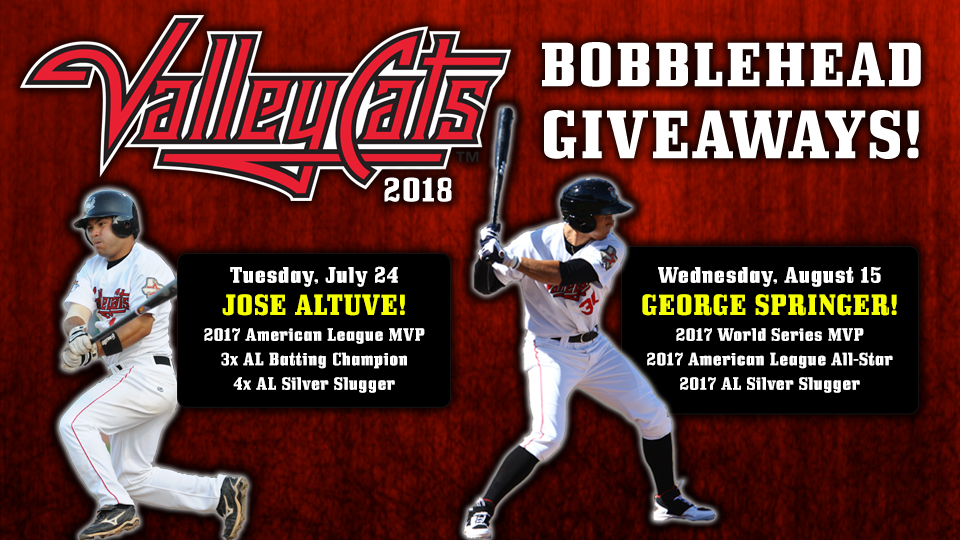 de9a21a54ba Altuve and Springer to be immortalized into ValleyCats bobbleheads ...