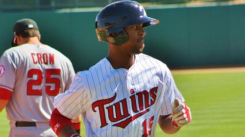 Byron Buxton was named Topps' Minor League Player of the Year on Oct. 22.