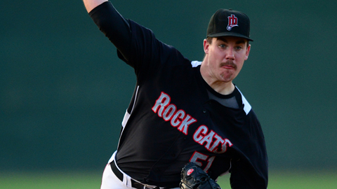 Trevor May is 6-3 with a 3.56 ERA for New Britain this season.