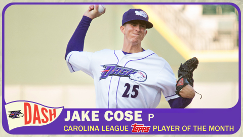 Jake Cose allowed one run in his first four starts during August.