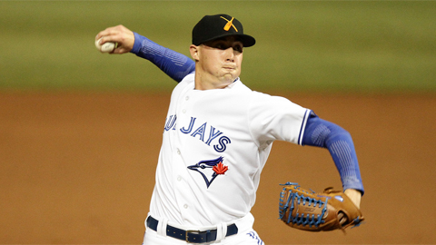 Aaron Sanchez has struck out 10 batters over 13 1/3 AFL innings.