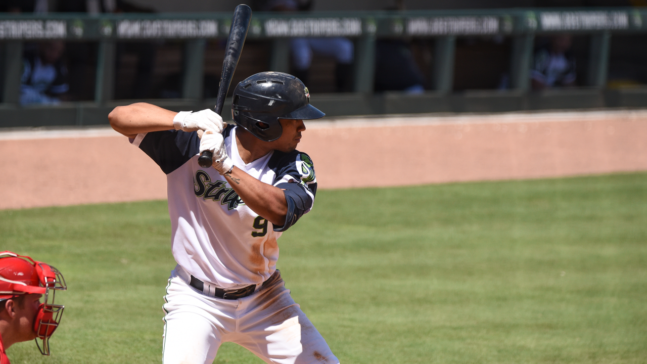 792de8ef Marte drove in a pair in the eighth for a 7-6 win over the Bats. (Jamie  Spaar/Gwinnett Stripers)