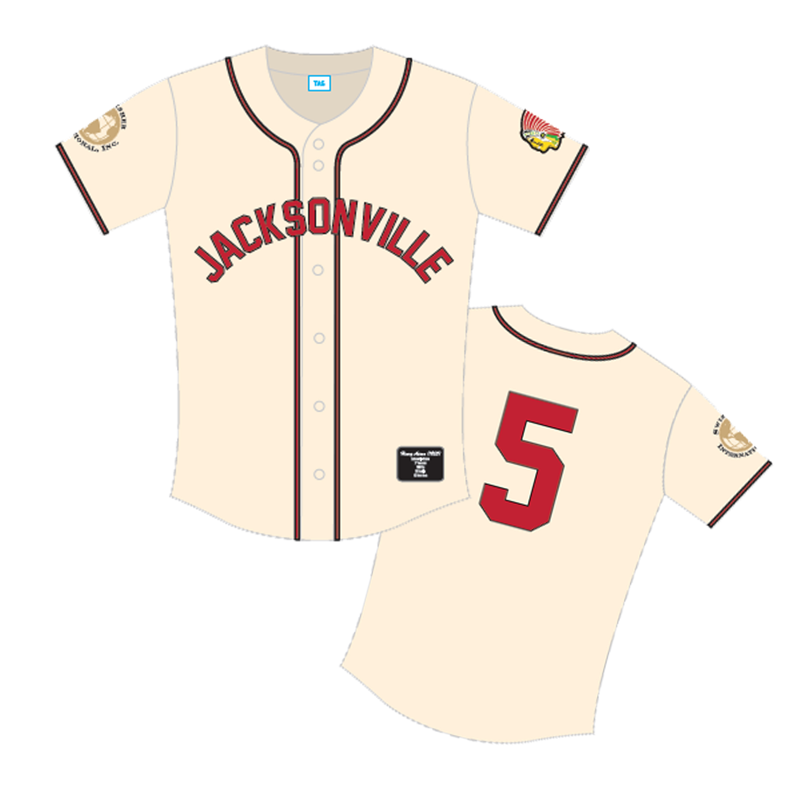 b7eab9b31 ... for a young Henry Aaron; as the first 2,000 fans through the gates will  received a replica Jacksonville Braves, Henry Aaron, number 5 baseball  jersey!