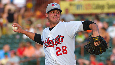 Mark Appel has struck out six batters over five innings without issuing a walk.