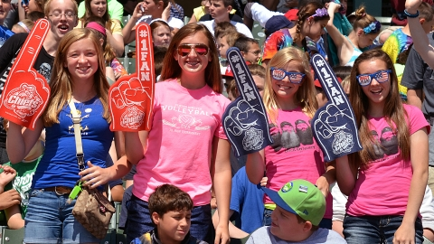 This Peoria fans helped the Midwest League top four million fans in 2013.