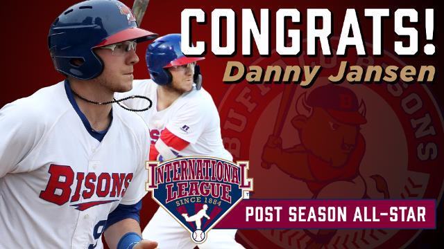 C Danny Jansen Named International League Postseason All