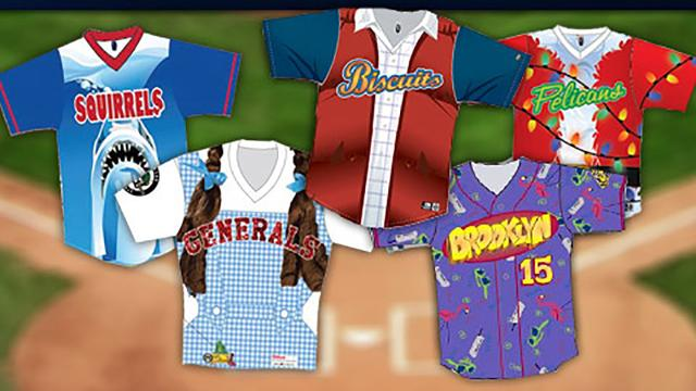 finest selection 1932c 1a4c7 Theme jerseys score for charity, publicity | MiLB.com News