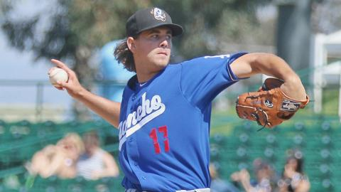 Dean Kremer sports the Cal League's second-highest punchout ratio at 34.8 percent.