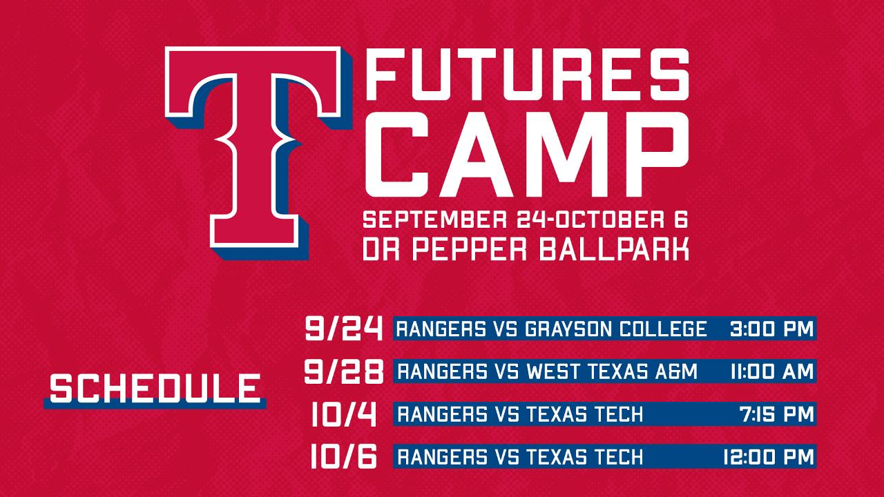 photograph regarding Texas Rangers Schedule Printable titled Rangers Futures Camp coming in the direction of Frisco Frisco RoughRiders Information