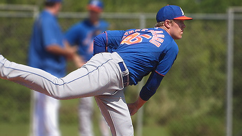 Noah Syndergaard joined the Mets in the R.A. Dickey trade with Toronto.
