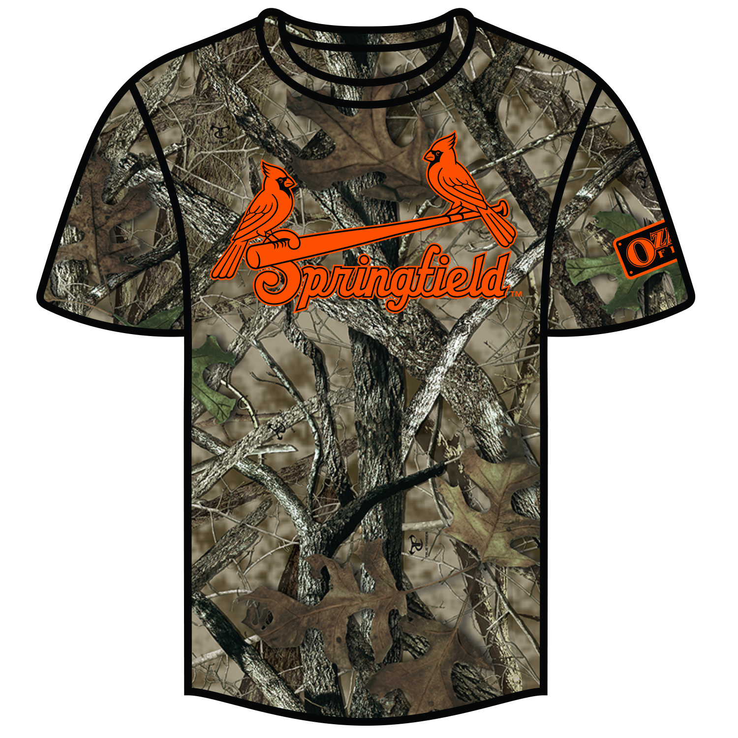 a93d1da15 ... our game vs. the RockHounds on June 13 and features a full camo print  with an orange Springfield Cardinals logo.