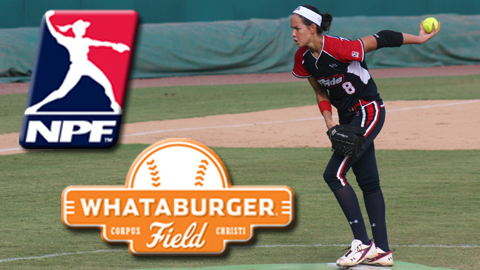 Cat Osterman leads the USSSA Pride against the Akron Racers in the National Pro Fastpitch Coastal Classic June 13-15 at Whataburger Field.
