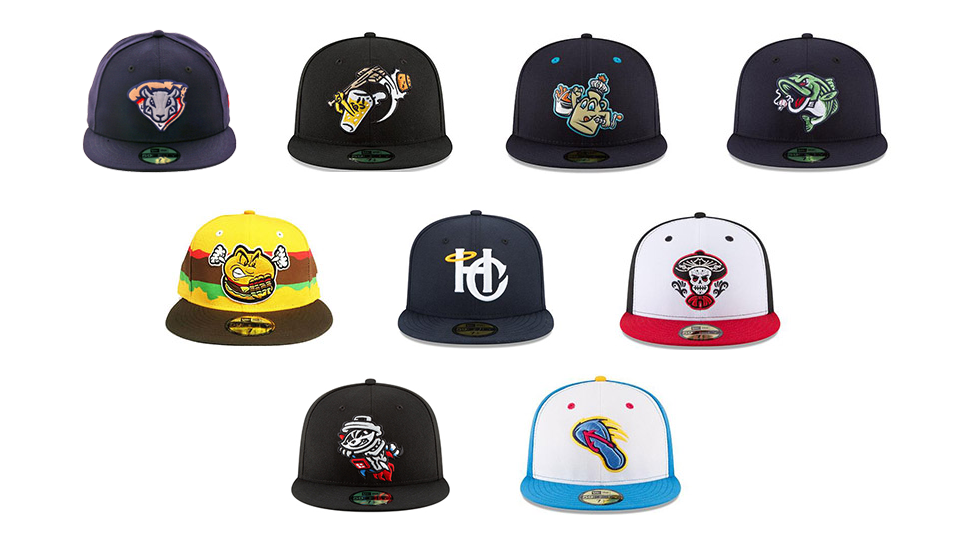 Popular lids from 2018 spotlight creative side of Minor Leagues 8fda7816366