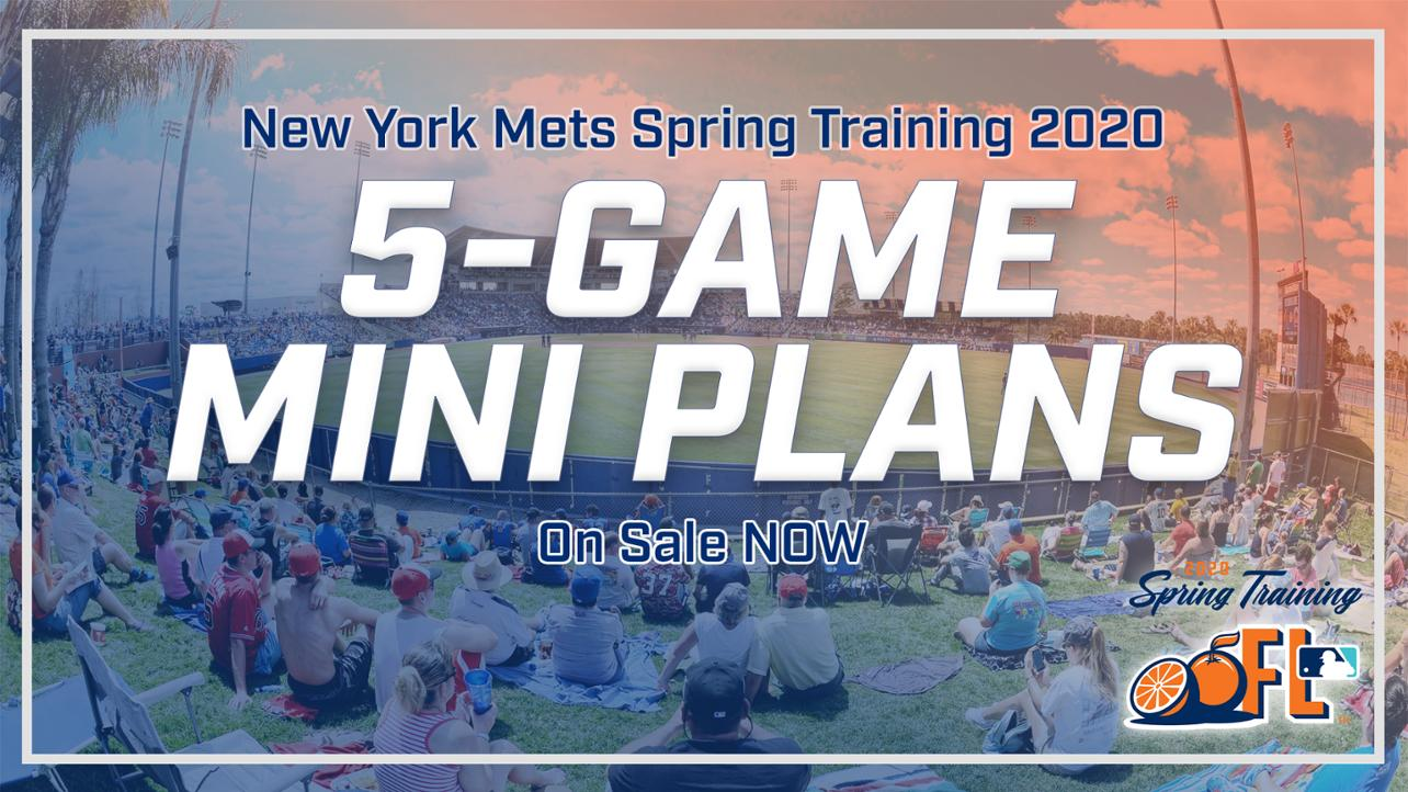 Spring training 5-game plans available now!