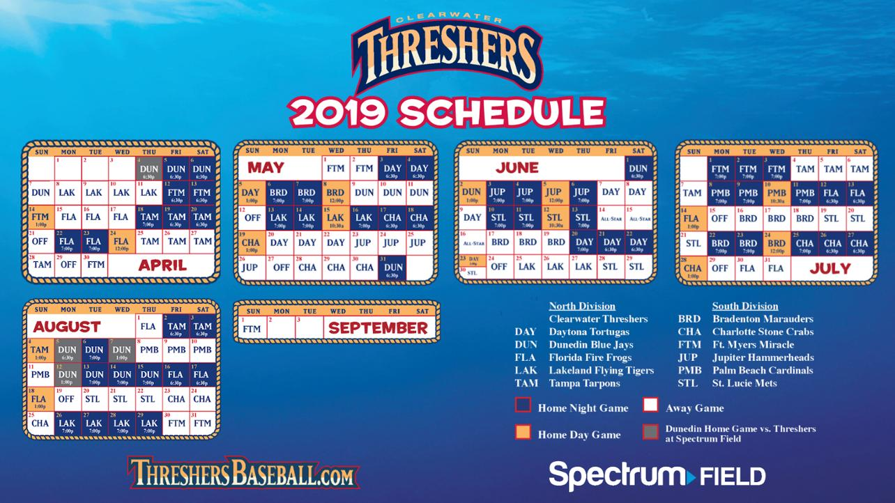 Threshers game times 2019 panel