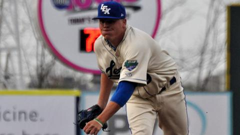 Photo: Starter Daniel Stumpf of the Lexington Legends delivered a pitch in Monday night's game, won by the Legends 4-3 over Asheville.