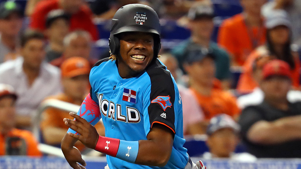 a4d63e33aee Vladimir Guerrero Jr. climbed just two spots from last year s preseason  list to achieve his No. 1 ranking. (Alex Trautwig MLB Photos)