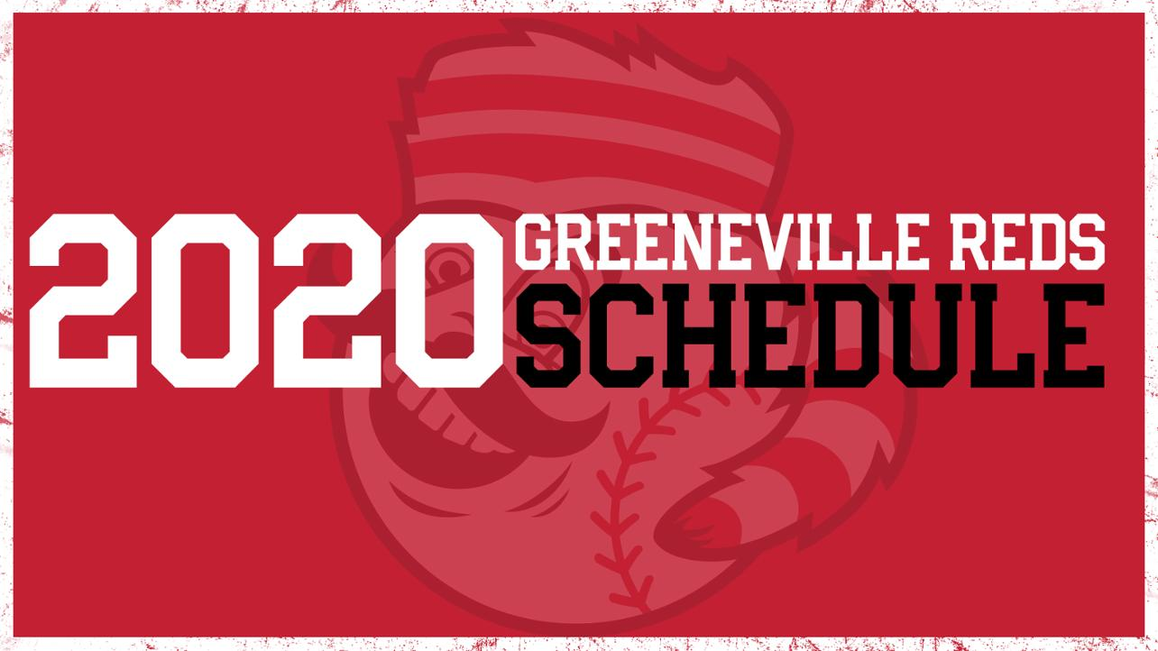 Greeneville Reds 2020 schedule media wall