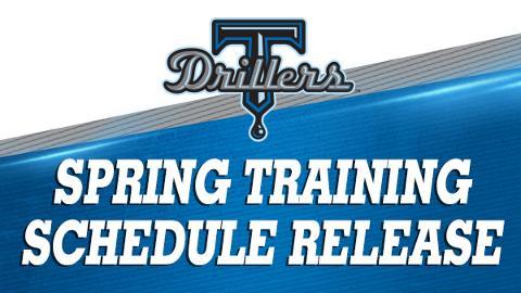 Drillers Set Spring Training Schedule Tulsa Drillers News