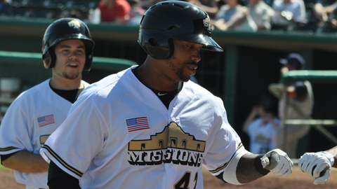 Kalian Sams hit 11 home runs in the Southern League in 2012.