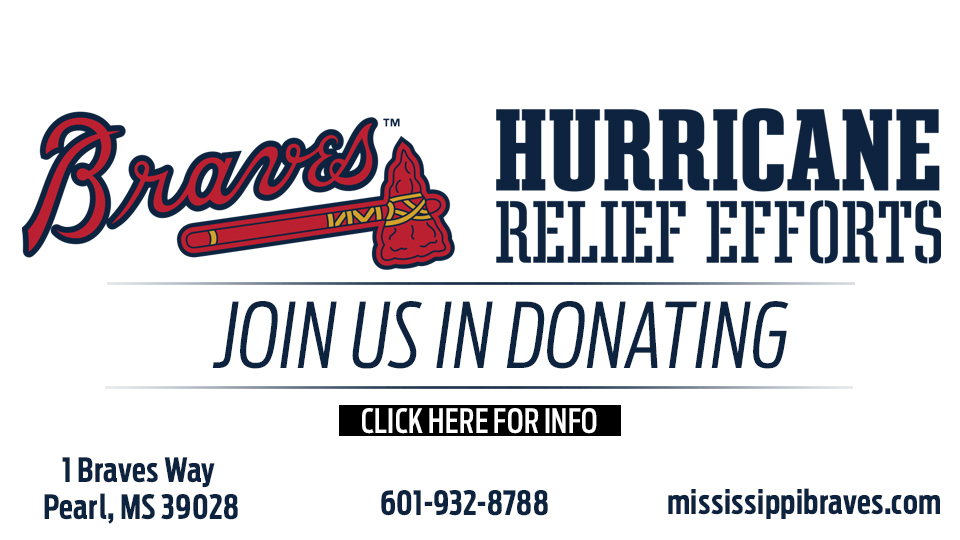 M-Braves Collecting Food and Supply Donations for Hurricane Michael Relief Efforts Through End of October
