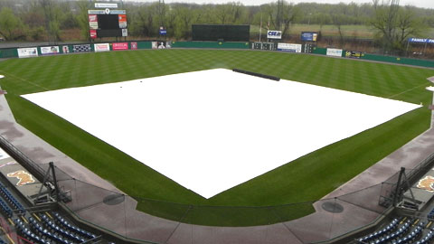 Monday's game between the Chiefs and Red Sox was postponed due to rain.