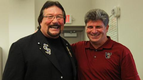 Chris Mehring (right) recently posed with the Million Dollar Man.
