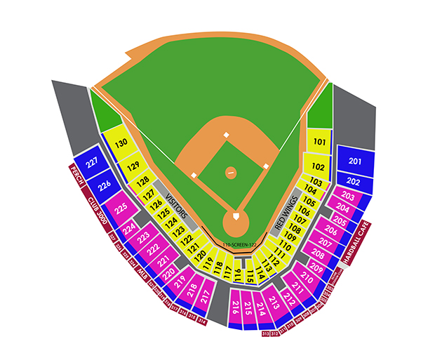 Tropicana Field Seating Chart With Rows And Seat Numbers