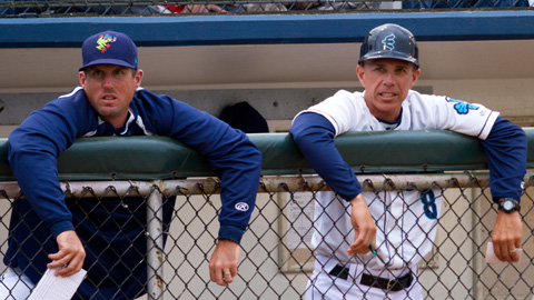Coach Rich Dorman (l) and Manager Rob Mummau (r) will return in 2013