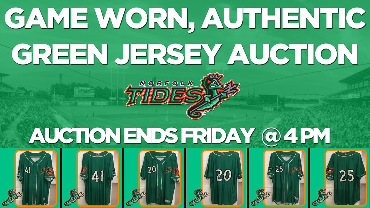 Norfolk Tides Green Jersey Auction Ends Friday @ 4 PM!