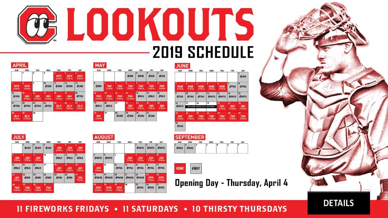 Lookouts 2019 Schedule