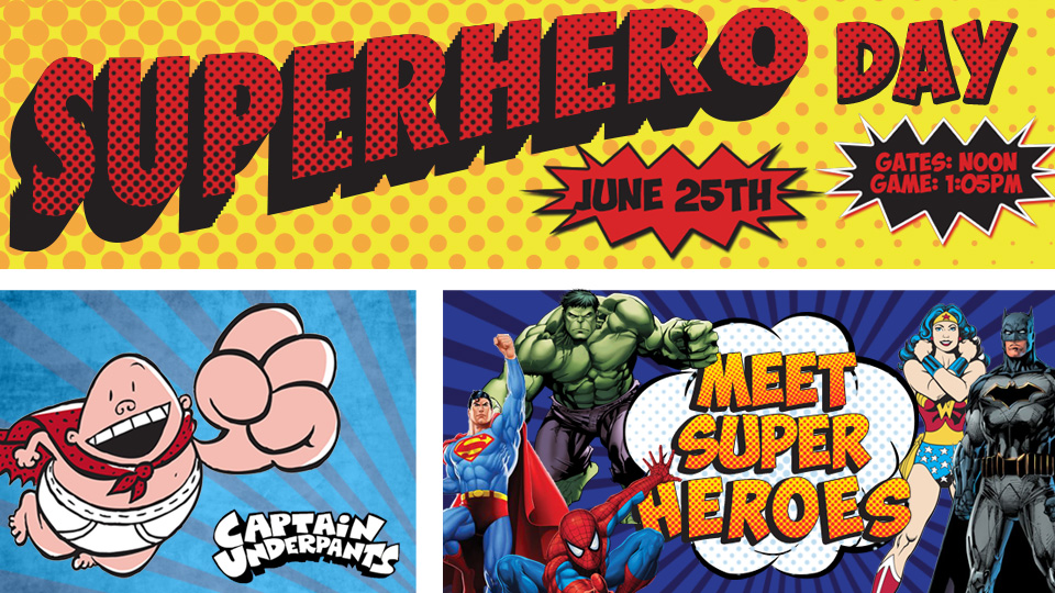 Superhero fitness promotional giveaways