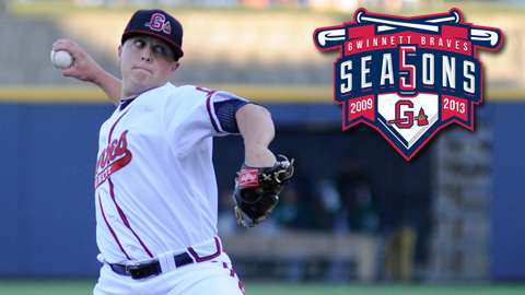 Gwinnett's first winning pitcher in 2009, Kris Medlen returned briefly in 2012.