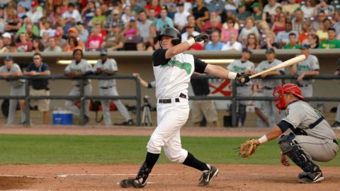 Justin Turner with the Dragons in 2007.