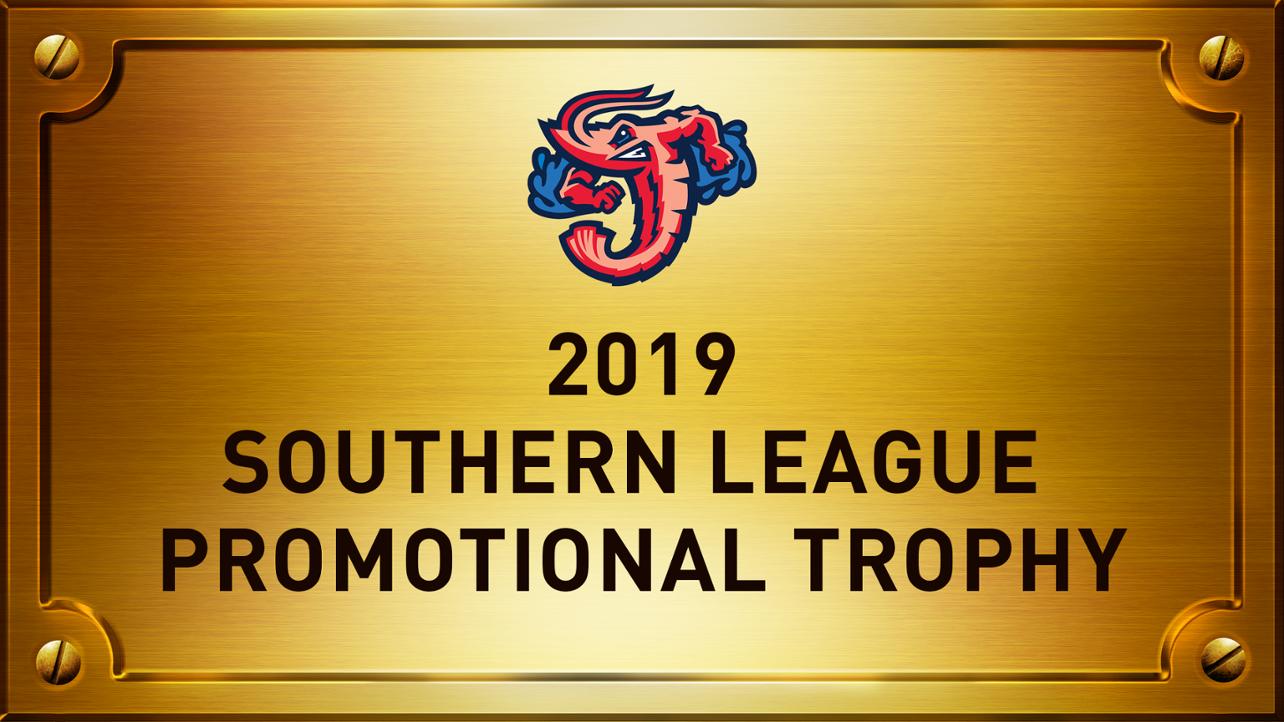 Jumbo Shrimp win Southern League Promotional Trophy; O'Brien earns Sports Media Award