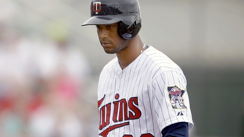 The Twins' Aaron Hicks hit .284/.384/.460 for Double-A New Britain in 2012.