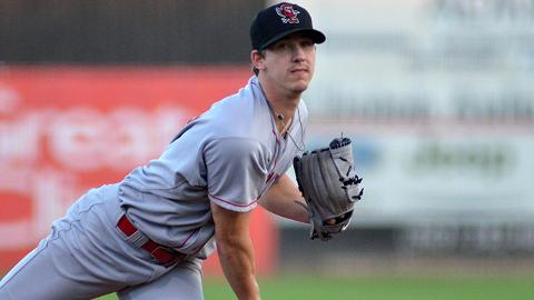 Walker Buehler pitched five scoreless innings in the playoffs for Class A Great Lakes last year.