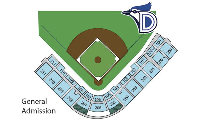 Ballpark InfoFAQs Dunedin Blue Jays Club Info - Blue jays seating chart