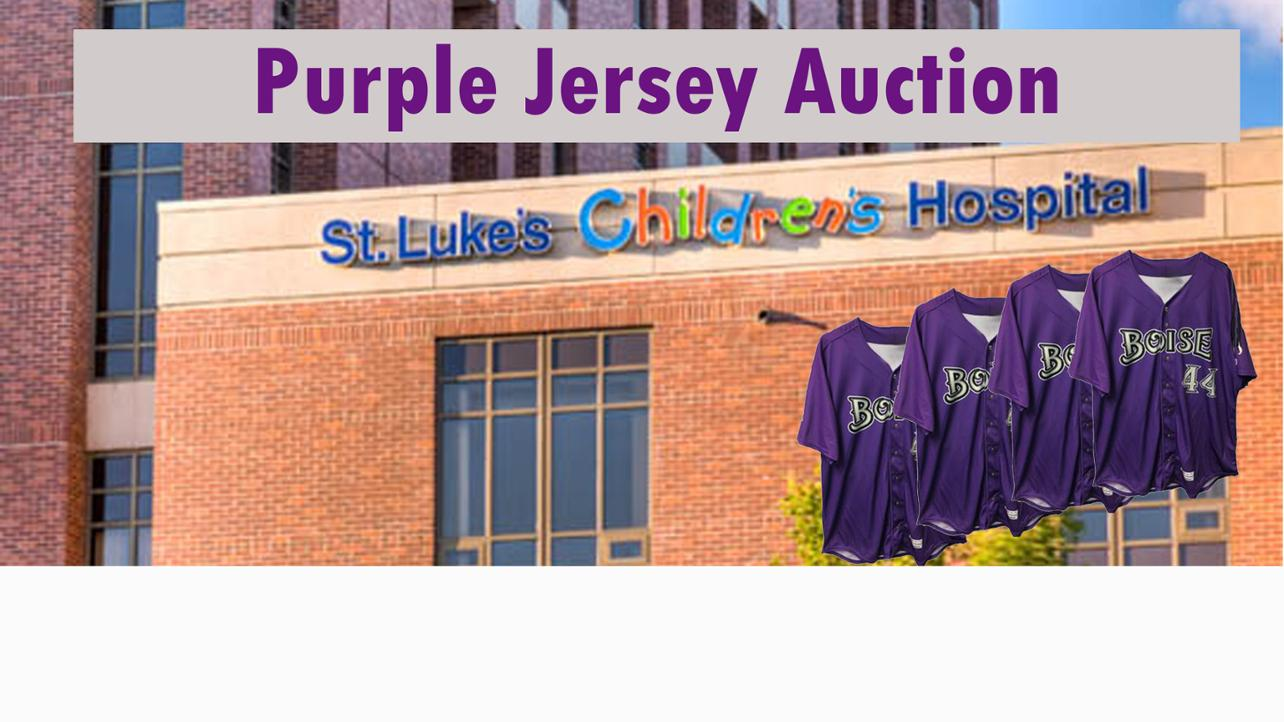 2018 Purple Jersey Auction - Benefiting St. Luke's Children's Hospital